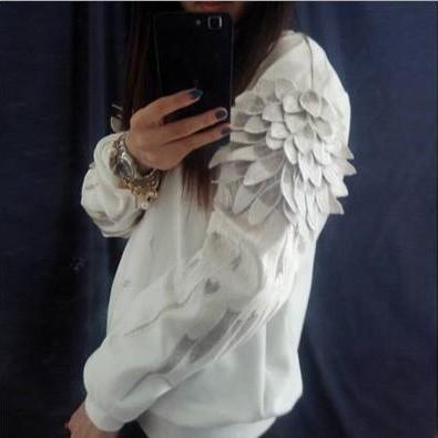 Fashion Hoodie Wings Sweater